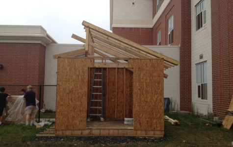 One of the projects for the Engineering Club was to build a new shed for the Environmental Club.