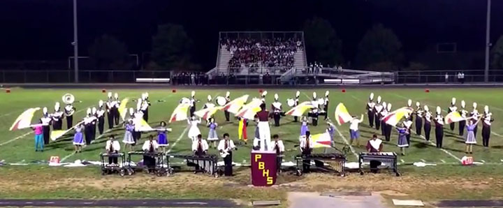 Marching Band Marches Into First Competition of The Season