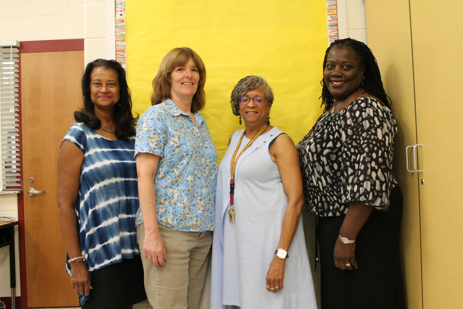 This year's retiring staff members include (above) Mrs. Pat Gafford, Ms. Gloria Cottman, Mrs. Barbara Britton, and Ms. Geraldine Finch. Retirees Mrs. Donna Weber and Ms. Marla Frenzel are not pictured.