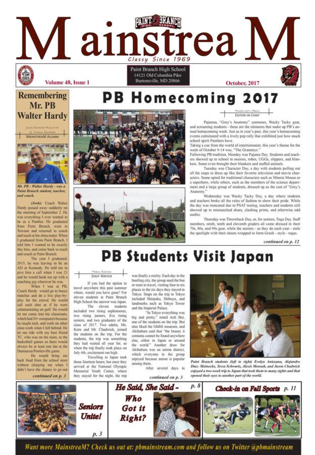 Mainstream, Issue 1: October, 2017 – Full Issue PDF