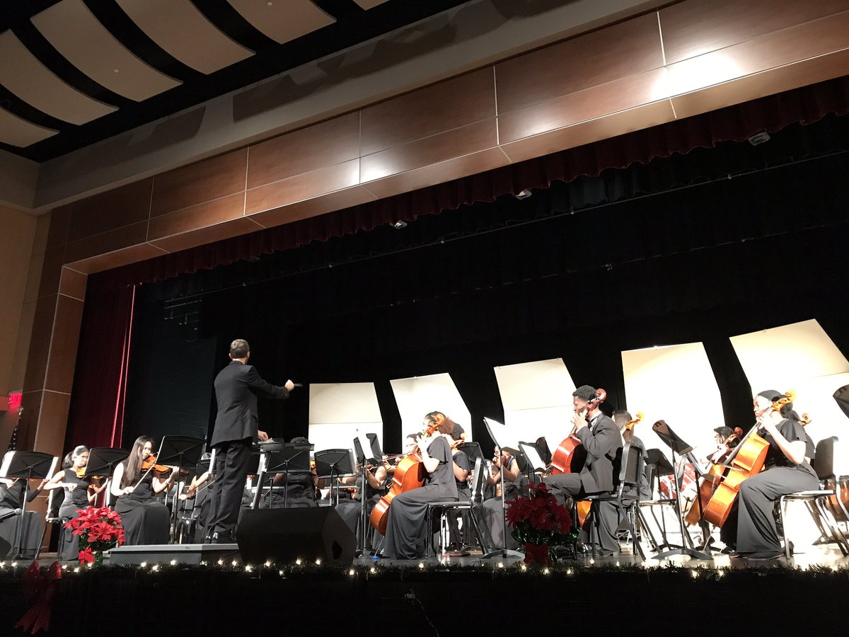 Mr. Casement conducts the String Orchestra during the Winter Concert.