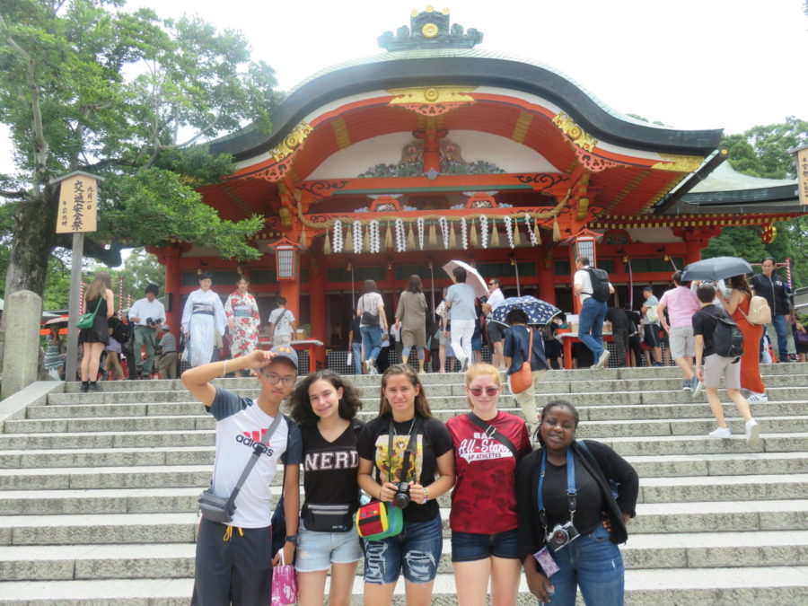 Five+PB+Students+visited+Japan+this+summer.