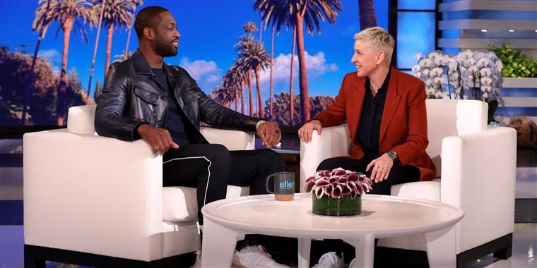 Dwayne+Wade+speaks+to+Ellen+on+the+episode.+