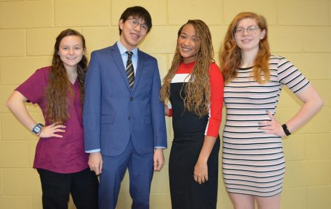 Jaime Mamana, Dante Huynh, Alexis Council, and Julia Mamana are four key members of PB's Swim and Dive Team. Each has given a lot and gained a lot from the team.