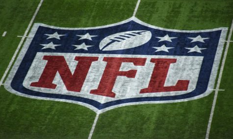 Feb 4, 2018; Minneapolis, MN, USA; The NFL logo at midfield is seen before Super Bowl LII between the New England Patriots and the Philadelphia Eagles at U.S. Bank Stadium. Mandatory Credit: Richard Mackson-USA TODAY Sports