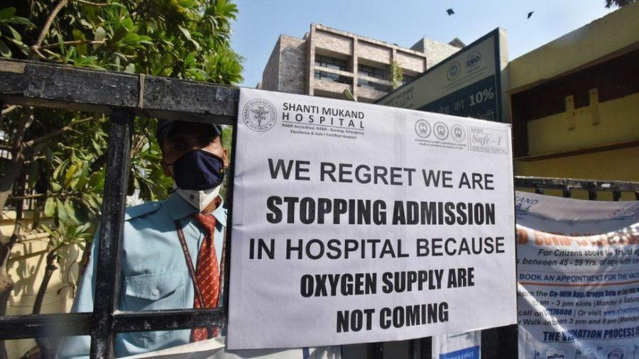 Sign posted outside of Shanti Mukand Hospital in India. Photo from bbc.com