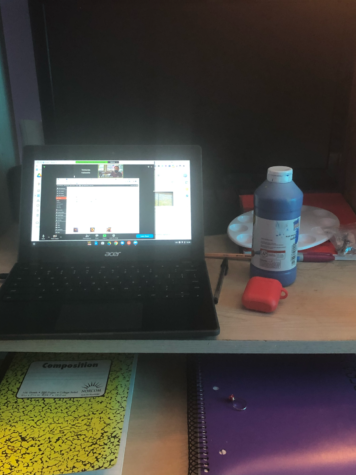 This is how my desk looked the majority of the school year. In my opinion, this is very organized!